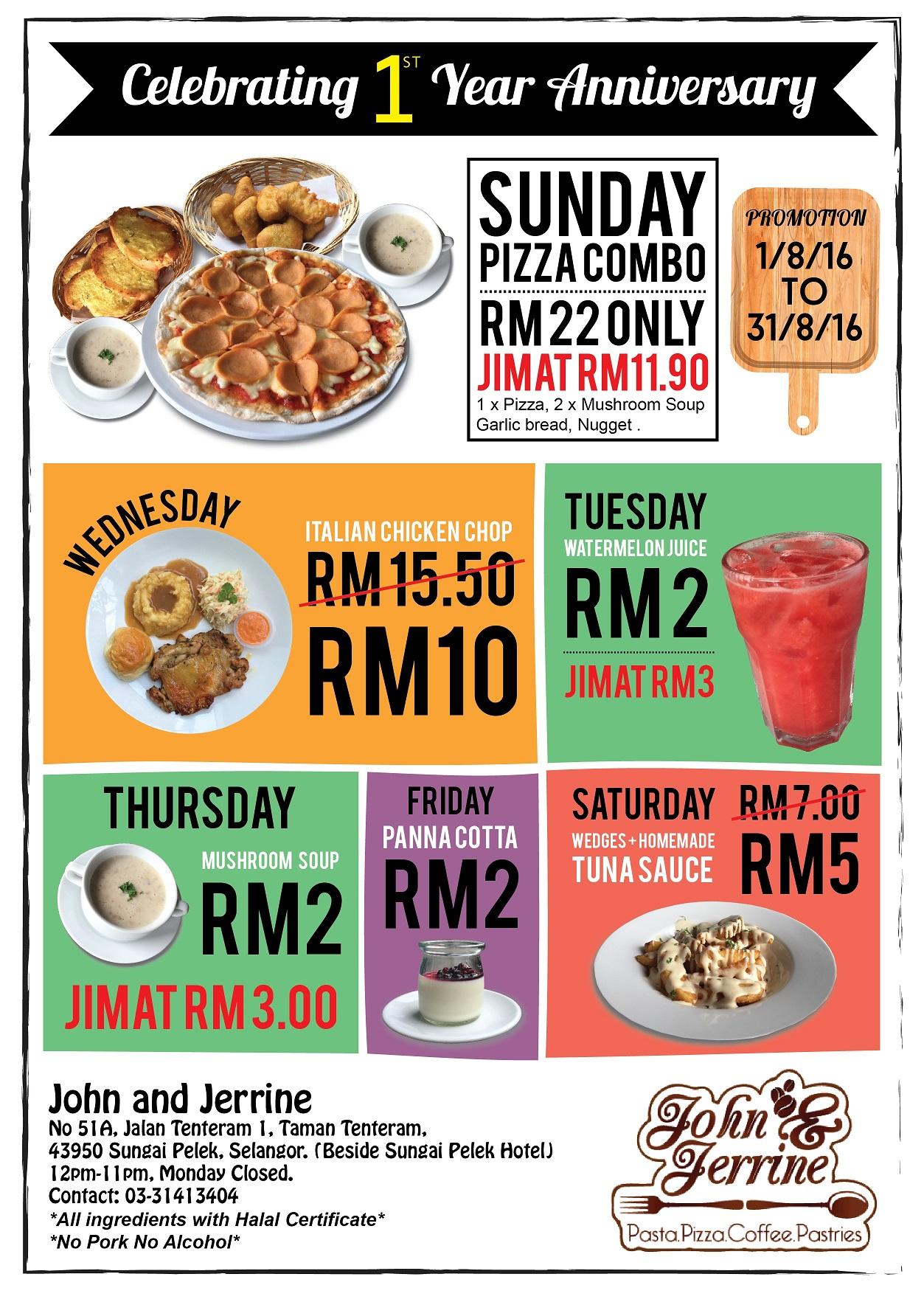 john jerrine restaurant leaflet banner 316 creative solution